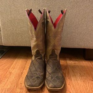 Anderson Bean cowboy boot w/zipper pocket!Size 9.5